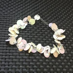 Flirty irridecent sequin bracelet. Bx4
